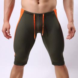 Pantalones cortos de malla para hombre l online-Pantalones cortos para correr para hombre Malla ajustada Deportes respirables Gimnasio entrenamiento Culturismo para hombres Pantalones cortos para hombres Pantalones cortos para correr con compresión