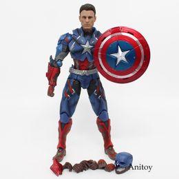 Wholesale Crazy Action Figures - pvc Avengers 3 Captain America CRAZY PVC Action Figure Collectible Models 25cm KT2433