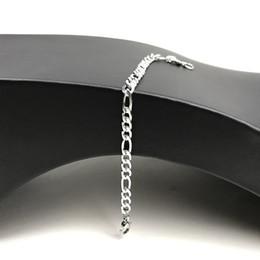 USENSET Simple, con estilo y personalizado astilla Figaro pulsera plana de tres cadenas pulsera de acero inoxidable joyería 12pcs / lot envío de la gota desde fabricantes