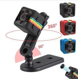 Wholesale Hidden Car Security Cameras - 2017 New 1080P SQ11 Mini Camera HD Camcorder HD Night Vision Hidden Camera Aerial Sports Mini DV Car DVR Home Security Recorder