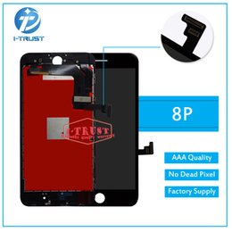 Wholesale Black Par - Original Quality Display Touch Digitzer LCD For iPhone 8 Plus Color Black White LCD Good Repair Replacement Par twith Free DHL Shipping