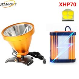 2019 wiederaufladbare magnetische lampe XHP70 LED Stirnlampe Scheinwerfer Scheinwerfer Taschenlampe Laterne 1500 meter Fern für Jagd 8 * 18650 21000 mAh Batterie