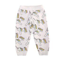 Wholesale cotton dress elastic waist - Unicorn Pants Shirts Dress Suits Boys Girls Trousers Clothing Sets Pure Cotton Autumn Winter Long Sleeve Shirts Short Sleeve Dress 1-7T