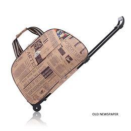 20-24 pouces bagages roulants molleton sac de voyage sac fourre-tout bagage à main bagage à main weekender pour les femmes (multicolore) ? partir de fabricateur