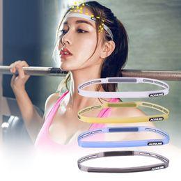 2019 headbags de exercícios grossistas Esportes ao ar livre Silicone Guiding Belt Cabeça Sweat Headwear Yoga Sweatband