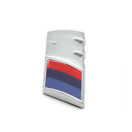 Wholesale m3 e92 - 1pcs ABS Car M Power Performance Badge Fender Sticker For M BMW E46 E39 E60 E90 E36 E30 F30 F10 E53 E91 E92 E87 M3 M5 M6 X3 X5