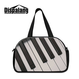 Wholesale Piano Bags - Sport Gym Messenger Bag For Teenagers Piano Pattern Duffle Bags Shoulder Bag For College Students Men Outdoor Business Travel Weekender Bags