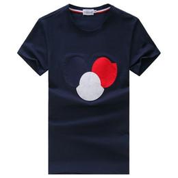 Wholesale boys blue collar shirt - Brand T Shirt Men MON Short Sleeve Shirts Cotton Turn-Down Collar T-Shirt Casual Tops Tees Homme Hiphop T shirt Boy Chemise #78787854444