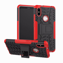 Wholesale Xiaomi Holster - For Xiaomi Redmi S2 Case Colorful Stand Rugged Combo Hybrid Armor Bracket Impact Holster Protective Cover For Xiaomi Redmi S2