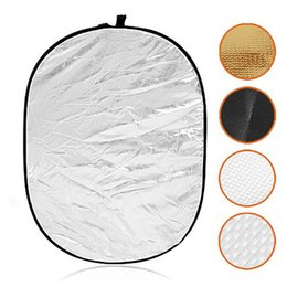 Wholesale Photo Discs - 90*120CM 5 in 1 Portable Foldable Studio Photo Collapsible Multi-Disc Light Photographic Lighting Reflector with Carrying Bag