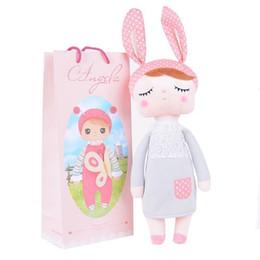 Wholesale Metoo Stuff Toys - 13 Inch Brinquedos Plush Cute Stuffed Bonecas Baby Kids Toys for Girls Birthday Christmas Gift Angela Rabbit Girl Metoo Doll