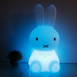 night lamps for kids Coupons - 28cm Rabbit LED Night Light USB Charging Baby Children LED Night Lamp for Bedroom Home Decorative Light Kids Gift