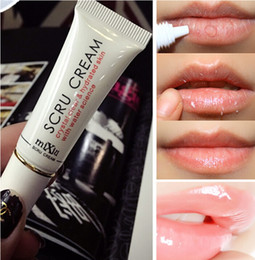 hot lips Promo Codes - Hot Sale Lip Scrub Removal Horniness Crystal Clear Hydrated With Water Science For Lips Maks Exfoliating Gel Beauty Tools