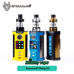 Wholesale led multi color kit - 100% Authentic SnowWolf Vfeng Starter Kits Snow Wolf 230W TC Box Mods 3ml Atomizer 1.30 Inch TFT Color LED Screen