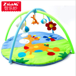 Wholesale Baby Play Gym Toys - Hight Quality Two Kinds Of Baby Game Blanket Crawling Early Education Gym Play Cartoon Tapete Mat Puzzle Toys Gift