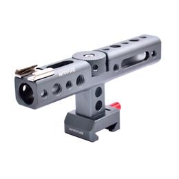 2019 kamera schieberegler großhandel Waraxe Kamera NATO Griff Einstellbare Aluminium Top Griff für Kamera Käfig mit Schuhhalterung