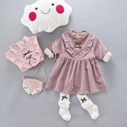 Wholesale Fashion Boutique Color Line - Infant girls Dress Korean 2018 New Fashion Kids Boutique Clothing Famous Designer Kids Clothes Outdoor Floral Dress