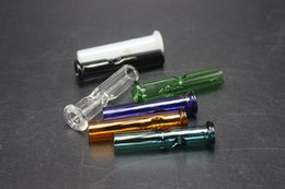 Wholesale paper roll holders - Glass Filter Tips for Dry Herb Tobacco RAW Rolling Papers With Tobacco Cigarette Holder Pyrex Glass Round & Flat Mouth Filter