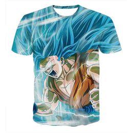 Wholesale Men 3d Printed T Shirts - 3D T-shirts Mens Womens Super Saiyan Dragon Ball Z Print dragonball Graphic Summer Short Sleeve Tee t shirt