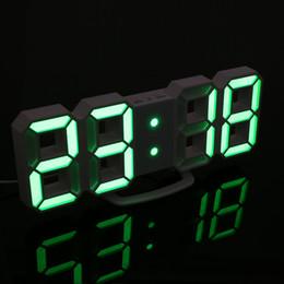 Argentina 2018 nueva pantalla LED moderna digital lámpara de escritorio de pared despertador lámpara de luz de la noche con más modo y mostró diferente color cheap new led wall clocks Suministro