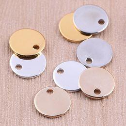 Beichong Fashion tre colori accessori collana in acciaio inox rotondo cerchio amore cuore per fai da te braccialetto collana gioielli regalo da