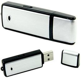 Wholesale Recording Usb - USB Sound Recorder - 8GB Voice Recording Device - Hidden Digital Audio Recorder - No Flashing Light When Recording PQ141