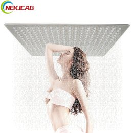 """Wholesale 16 Shower Head - Ultra thin Shower Faucet Chrome Polish Brushed Nickel Shower Head Faucet 16 Inch 20"""" Bathroom"""