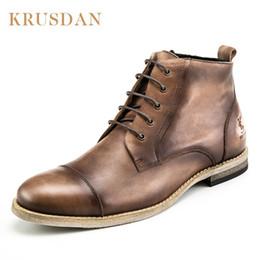 KRUSDAN Herbst Winter Männer Schuhe Stiefel lace-up Echtes Leder Plus samt  männer Martin stiefel Vintage Handgemachte outdoor vintage schnürstiefel im  ... 2466482493