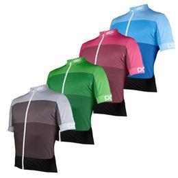 Wholesale Full Wash - 2018 unisex poc bicicleta cycling jersey summer Cycling Shirts Ropa Ciclismo MTB 9d cycling tops free shipping Breathable Outdoor sportswear