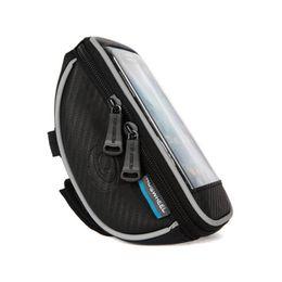 zelle mtb Rabatt Fahrrad Fahrrad Handytasche regendicht PU Leder Touchscreen Handyhalter Fahrrad Lenkertaschen MTB Frame Tasche Tasche