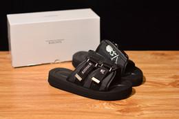 2019 sandales en caoutchouc blanc Nouveau Arrivé Top qualité Masterminds x Suicoke Summer Trip Fest Sandales à semelle de soie noire Sandales pantoufles