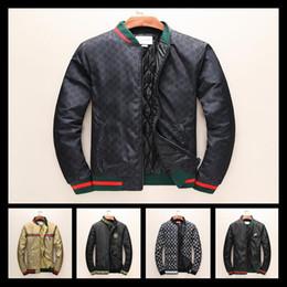 Wholesale Luxury Men Winter Jacket - 2017 Winter Luxury Fashion Brand Windbreaker Jacket Medusa Snake Floral Print Jackets Men Casual Long Sleeve Outerwear Jackets Coats