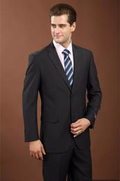 Manteau gris pantalon images en Ligne-Hommes Costume Blazer 2018 Dernière Manteau Pantalon Conceptions Noir Marque-vêtements Hommes Costumes Costumes De Mariage Marié Noir Gris Hommes Vêtements de cérémonie (veste + pantalon
