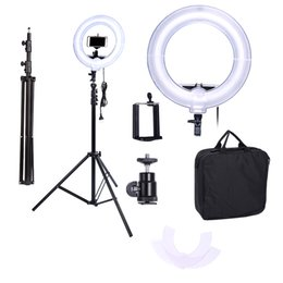 Anillo de foto flash online-Camera Photo Video 13 inches Ring Fluorescent Flash Light Lamp for Portrait,Photography,Video Shooting with Tripod NO Dimmable