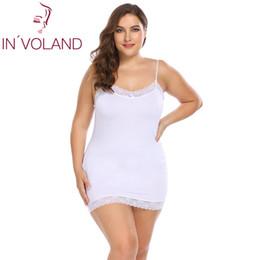IN VOLAND Big Size Women Nightgowns Sleepshirts 4XL Sexy Dress Nightwear  Lace Patchwork Slim Full Slips Lady Sleepwear Plus Size 889e6ba1f