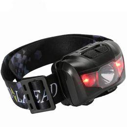 Luces fáciles online-5W Luz roja roja Faros impermeables Pesca LED Faros Super ligeros Fácil para llevar al aire libre Deporte faro 13cr X