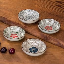 platos de horno de cerámica Rebajas Al por mayor-Vajilla de cerámica set weidie plato de hueso salsa vinagre plato pequeño plato microondas horno regalo