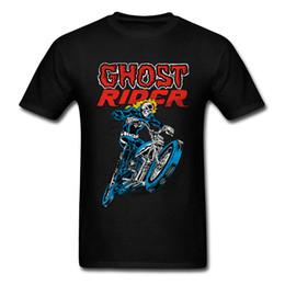 Reiterhemden online-Marvel Ghost Rider 100% Baumwolle T-shirts Für Männer Kurzarm Bequeme T-shirt Dominant VALENTINE TAG Rundhalsausschnitt T-Shirt Gedruckt