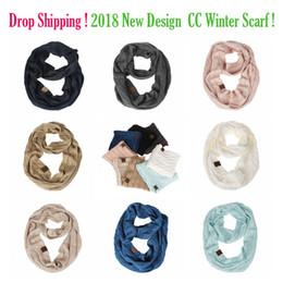 Envío de la gota de color sólido CC Bufanda de invierno para las mujeres Cálida bufanda de punto cuello de manta de lana Cashmere bufandas abrigo chal anillo desde fabricantes