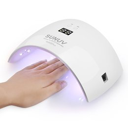 Wholesale Uv Lamp For Gel Nails 36w - SUN9x Plus 36W Nail Lamp UV Lamp Nail Dryer for UV Gel LED Gel Nail Machine Infrared Sensor Timer Set