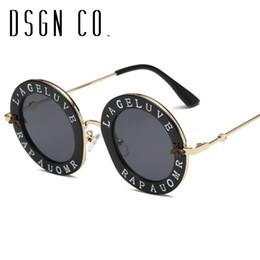 c90d8a7e934 2018 gafas de sol de diseño para hombres y mujeres marco redondo de gran  tamaño 7 colores gafas de sol de moda UV400 rebajas gafas de sol de gran  tamaño