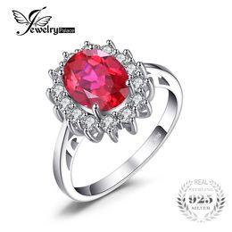 JoyasPalace Princesa Diana William Kate Middleton 3.2ct Creado Red Ruby Engagement Anillo de bodas con anillo de plata de ley 925 S18101001 desde fabricantes