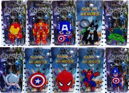 amico d'argento Sconti Un sacco di Spiderman capitano batman iron man misti portachiavi Keychain giocattoli