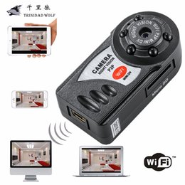 Wholesale Small Wifi Ip Cameras - TRINIDAD WOLF Mini Q7 Camera 720P Wifi DV DVR Wireless IP Cam New Video Camcorder Recorder Infrared Night Vision Small Camera