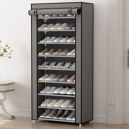 Wholesale Folding Clothing Racks - HHAiNi Multi Function Simple Dustproof Shoe Rack, Non Woven Shoes Cabinet Storage Organzier with Zipper Doors