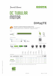 Wholesale Tube Roller - Dooya tubular motor DM25TE L-1.1,DM25TE-1.1, with one channel 15 channel emitter,38mm tube motor for roller blinds,