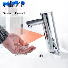 Wholesale Automatic Mixer Faucet - ULGKSD Bathroom Sensor Faucet Hot Cold Battery Power Automatic Hand Touch Sensor Faucets Mixer Tap Para Basin Bathroom