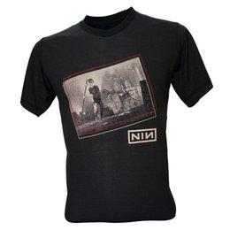 Гвозди онлайн-Мужская футболка Linero Nine Inch Nails NIN Rock Band Темно-серая NWT