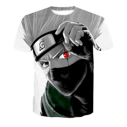 solid men t shirt full sleeve Promo Codes - Men T-shirt Kakashi 3D Full Print Man Casual Tops Unisex Short Sleeves Digital Graphic Tee Shirt Tees T-Shirts Blouse (RLT-4183)