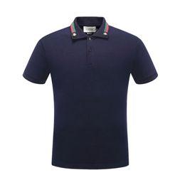 Повседневная одежда онлайн-Лето мужская повседневная тонкий рубашка поло для мужчин высокое качество вышивка дизайн Поло #0715 мужчины хлопок пуловер с коротким рукавом рубашки одежда